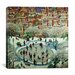 """iCanvasArt """"City Skaters"""" Canvas Wall Art by Bill Bell"""