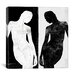 iCanvasArt Modern Contrasting Silhouette Figure Graphic Art on Canvas