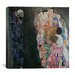 """iCanvasArt """"Death and Life"""" Canvas Wall Art by Gustav Klimt"""