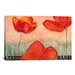<strong>Decorative Art 'Red Flowers' by Pablo Esteban Painting Print on Canvas</strong> by iCanvasArt