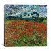 "<strong>iCanvasArt</strong> ""Poppy Field"" Canvas Wall Art by Vincent van Gogh"