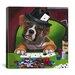 iCanvasArt Poker Dogs Jenny Newland Canvas Wall Art