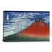 iCanvasArt 'Mount Fuji in Clear Weather (Red Fuji) 1930' by Katsushika Hokusai Painting Print on Canvas