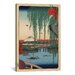 iCanvasArt Ando Hiroshige 'One Hundred Famous Views of Edo 62' by Utagawa Hiroshige l Graphic Art on Canvas