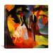 <strong>'People by a Blue Lake' by August Macke Painting Print on Canvas</strong> by iCanvasArt