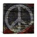 iCanvasArt Peace Sign, USA Flag, Brick Wall Graphic Art on Canvas
