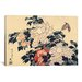 iCanvasArt 'Peonies and Butterfly' by Katsushika Hokusai Painting Print on Canvas