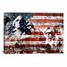 <strong>Mount Rushmore, USA Flag Graphic Art on Canvas</strong> by iCanvasArt