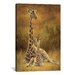 iCanvasArt Decorative Art 'Mother and Son (Giraffe)' by Lucie Bilodeau Painting Print on Canvas