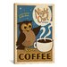<strong>iCanvasArt</strong> 'Night Owl Coffee' by Anderson Design Group  Vintage Advertisment on Canvas