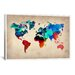 <strong>Naxart 'World Watercolor Map I' Painting Print on Canvas</strong> by iCanvasArt