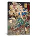 <strong>iCanvasArt</strong> Japanese Art 'Sakakibara Kenkichi' by Kawanabe Kyosai Painting Print on Canvas