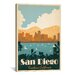 iCanvasArt 'San Diego, California' by Anderson Design Group Vintage Advertisement on Canvas