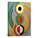 <strong>iCanvasArt</strong> 'Rythme 1938' by Sonia Delaunay Painting Print on Canvas