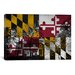 <strong>Maryland Flag, Capitol Building Grunge Graphic Art on Canvas</strong> by iCanvasArt