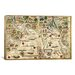iCanvasArt Antique Map 'Miller Atlas - Arabia and India (Reinel, Pedro c 1519)' Graphic Art on Canvas