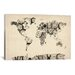 <strong>'Map of the World Map from Old Clocks' by Michael Tompsett Graphic...</strong> by iCanvasArt