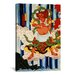 <strong>Japanese Man with Kanabo Woodblock Graphic Art on Canvas</strong> by iCanvasArt