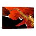"""iCanvasArt """"Man on Fire"""" Cancas Wall Art by Keith Mallett"""
