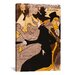 <strong>iCanvasArt</strong> 'Le Divan Japonais' by Henri De Toulouse-Lautrec Graphic Art on Canvas