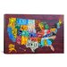<strong>Decorative Art 'License Plate Map USA' by David Bowman Graphic Art ...</strong> by iCanvasArt