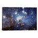 <strong>iCanvasArt</strong> Astronomy and Space 'LH-95 Stellar Nursery (Hubble Space Telescope)' Photographic Print on Canvas
