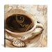 """<strong>""""Le Cafe"""" Canvas Wall Art by Color Bakery</strong> by iCanvasArt"""
