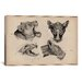 <strong>Animals Art 'Lion Head Anatomy' by Wilhelm Ellenberger and Hermann ...</strong> by iCanvasArt