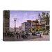 iCanvasArt 'Los Angeles: Temple and Broadway' by Stanton Manolakas Painting Print on Canvas