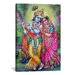 <strong>iCanvasArt</strong> Hindu Krishna and Radha Hindu Gods Painting Print on Canvas