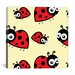 <strong>iCanvasArt</strong> Kids Art Lady Bug Canvas Wall Art