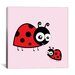 iCanvasArt Kids Art Lady Bug Canvas Wall Art