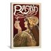 <strong>iCanvasArt</strong> Vintage Posters Rajah (Coffee) Vintage Advertisement on Canvas