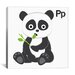 <strong>iCanvasArt</strong> Kids Art P is for Panda Painting Print Canvas Wall Art