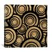 iCanvasArt Modern Art Overlapping Circle Pattern Graphic Art on Canvas