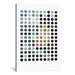 <strong>iCanvasArt</strong> Modern Art Earthy Dots Graphic Art on Canvas