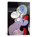 iCanvasArt 'Nude Women in the Red Armchair' by Pablo Picasso Painting Print on Canvas