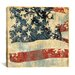 "<strong>iCanvasArt</strong> ""Old Glory II"" Canvas Wall Art by John Zaccheo"
