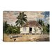 <strong>'Native Huts, Nassau' by Winslow Homer Painting Print on Canvas</strong> by iCanvasArt