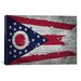 <strong>Flags Ohio Wood Planks with Splatters Graphic Art on Canvas</strong> by iCanvasArt
