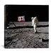 <strong>iCanvasArt</strong> Neil Armstrong Placing American Flag on the Moon Canvas Wall Art