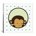 <strong>iCanvasArt</strong> Kids Children Monkey Face Spots Canvas Wall Art