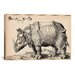 <strong>iCanvasArt</strong> Rhinoceros by Enea Vico Graphic Art on Canvas