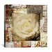 "<strong>iCanvasArt</strong> ""Retro Flower"" Canvas Wall Art by Luz Graphics"