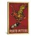 iCanvasArt Porto Pitters Vintage  Canvas Print Wall Art