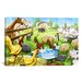 iCanvasArt Kids Children Farm Animals Cartoon Canvas Wall Art