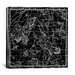 iCanvasArt Celestial Atlas - Plate 3 (Andromeda, Perseus and Caput Medusae) by Alexander Jamieson Graphic Art on Canvas in Black