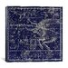 <strong>iCanvasArt</strong> Celestial Atlas - Plate 14 (Taurus) by Alexander Jamieson Graphic Art on Canvas in Blue