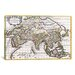 iCanvasArt Antique Map of Asia (1687) by Giovanni Giacomo De Rossi Graphic Art on Canvas in White