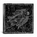 <strong>iCanvasArt</strong> Celestial Atlas - Plate 18 (Virgo) by Alexander Jamieson Graphic Art on Canvas in Black